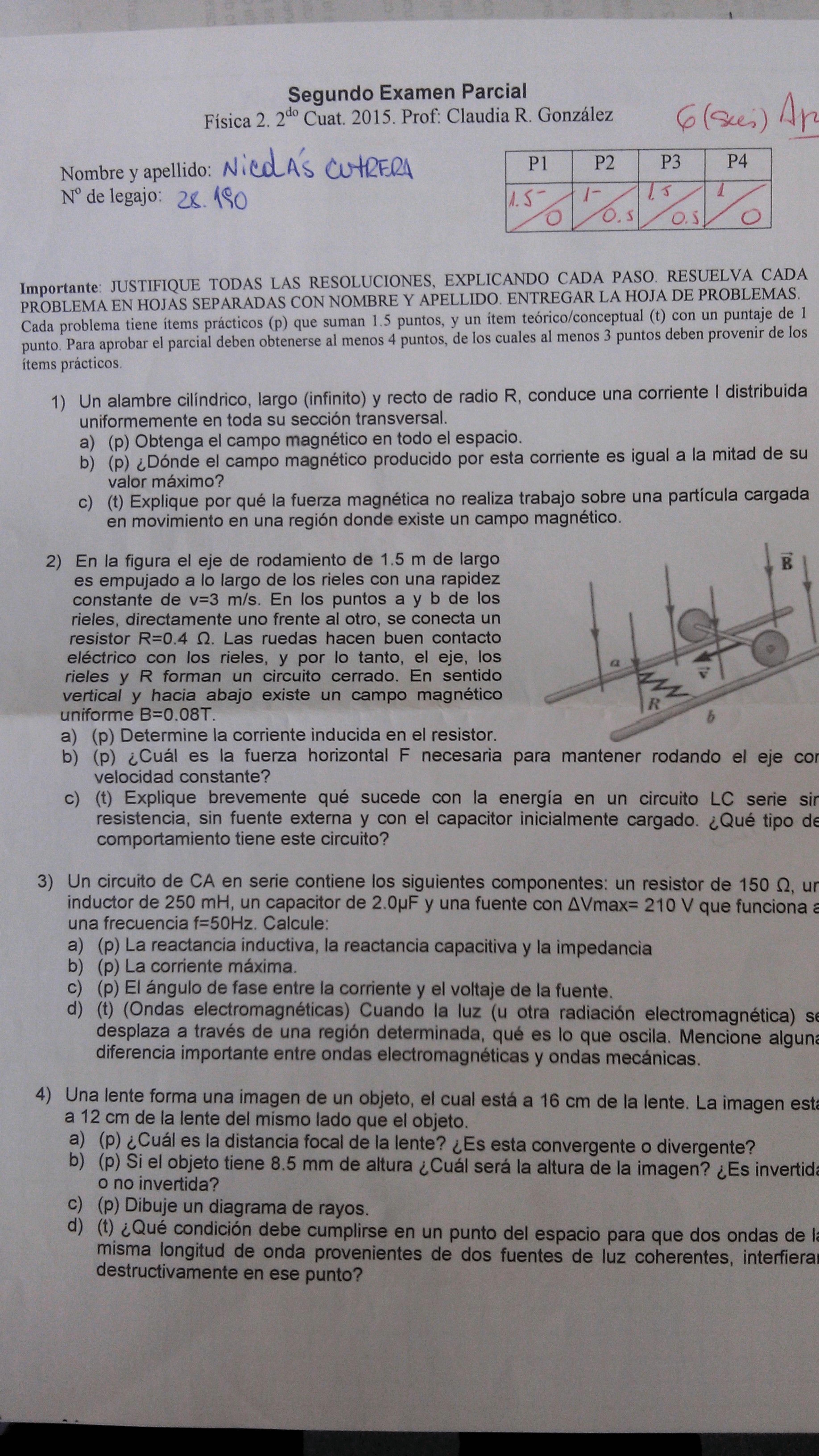 Modelo De Examen Modelos De Examen Fisica Primer Y Segundo Examen Fisica 3 Cbc Ciclo Basico Comun Filadd